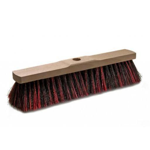 Room broom 40 cm harangue/Elaston mix with shaft hole