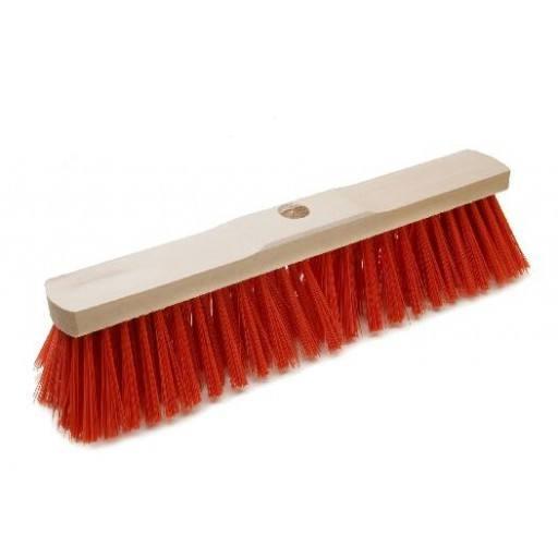 Room broom 40 cm Elaston red with shaft hole