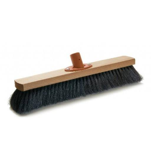 Room broom 40 cm, horsehair, with quick set holder