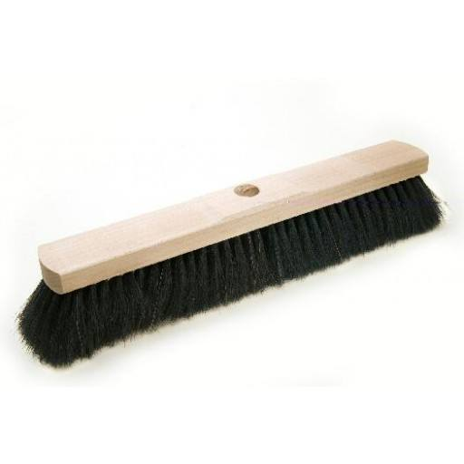 Room broom 40 cm, horsehair, with shaft hole