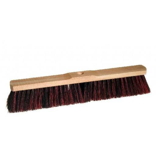 Room broom 50 cm harangue/Elaston mix with shaft hole