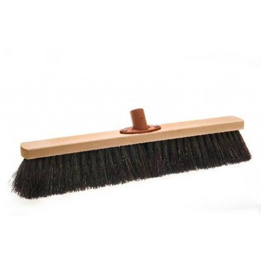 Room broom 50 cm harangue with quick set holder