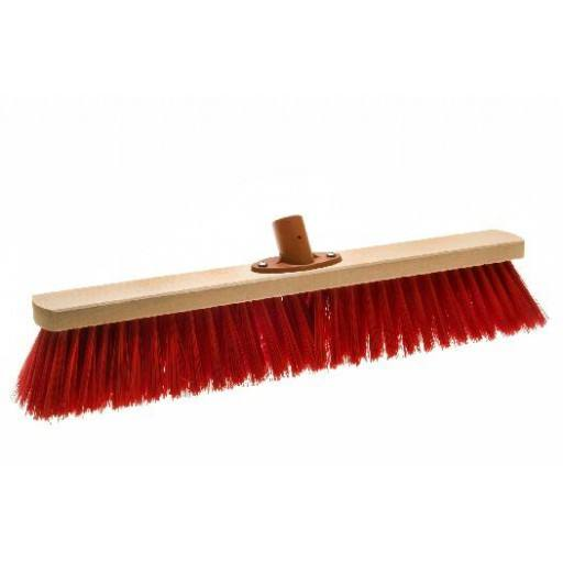 Room broom 50 cm Elaston red with quick set holder