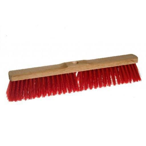 Room broom 50 cm Elaston red with shaft hole