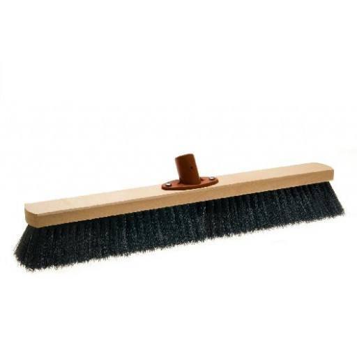 Room broom 50 cm, hair blend, with quick set holder
