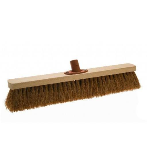 Room broom 50 cm coconut with quick set holder