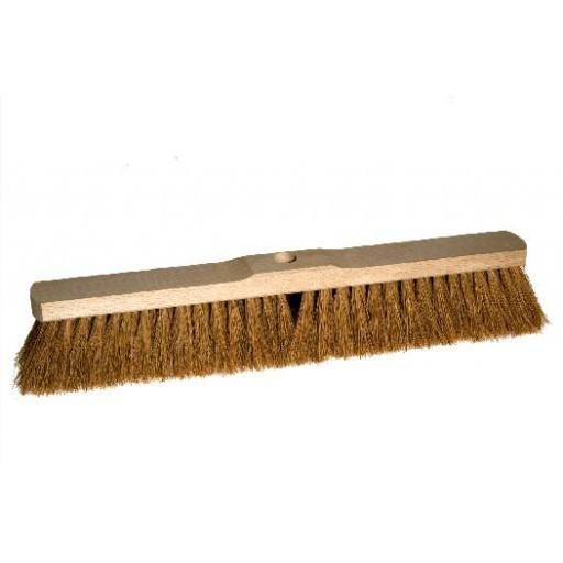 Room broom 50 cm coconut with shaft hole