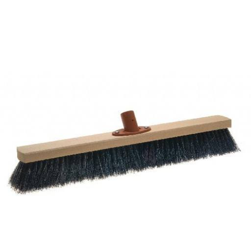 Room broom 50 cm, horsehair, with quick set holder