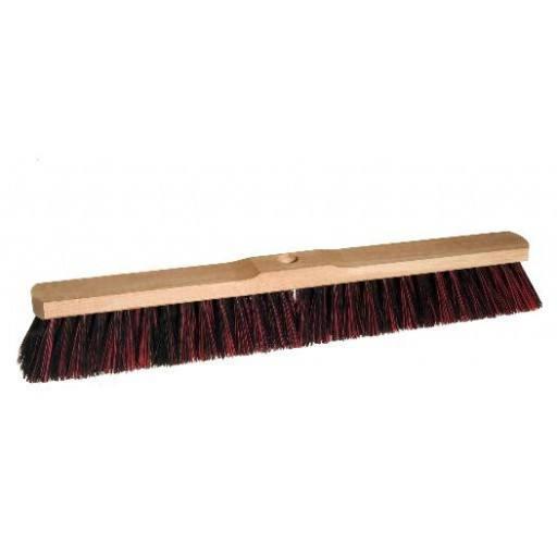 Room broom 60 cm harangue/Elaston mix with shaft hole