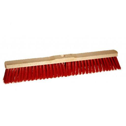 Broom 60 cm Elaston rot with stick hole