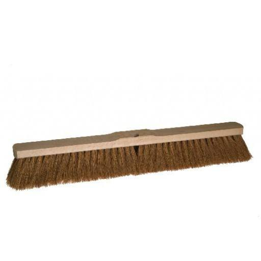 Room broom 60 cm coconut with shaft hole