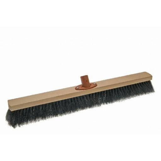 Room broom 60 cm, horsehair, with quick set holder