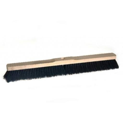 Room broom 60 cm, horsehair, with shaft hole