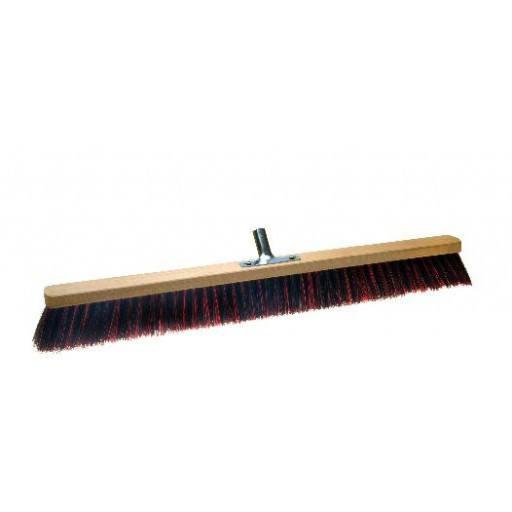 Room broom 80 cm harangue/Elaston mix with metal stick holder