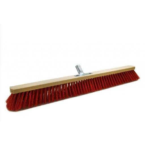 Room broom 80 cm Elaston red with metal stick holder