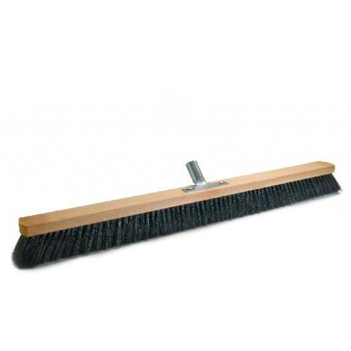 Room broom 80 cm, hair blend, with metal stick holder