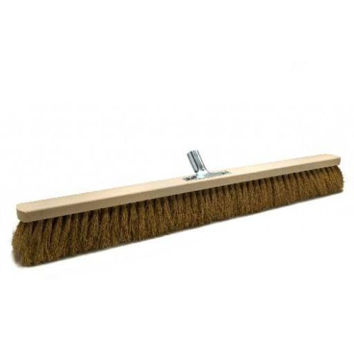 Room broom coconut 80 cm with metal stick holder