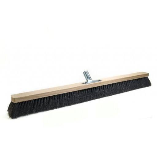 Room broom 80 cm, horsehair, with metal stick holder