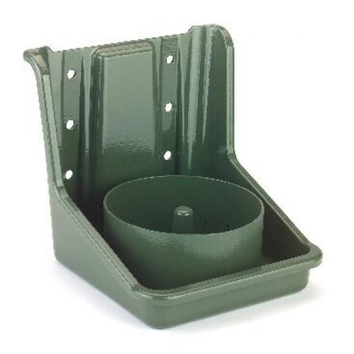 Green salt leak stone holder, PVC, with round insert
