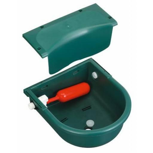 Float drinking bowls green, plastic 3 l