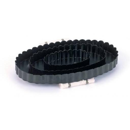 Steel Harrow oval, with wrist strap