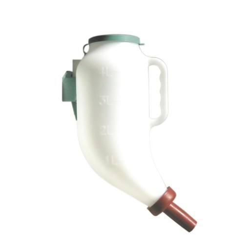 Dry feeding bottle 4 L incl. cleaner and plastic bracket
