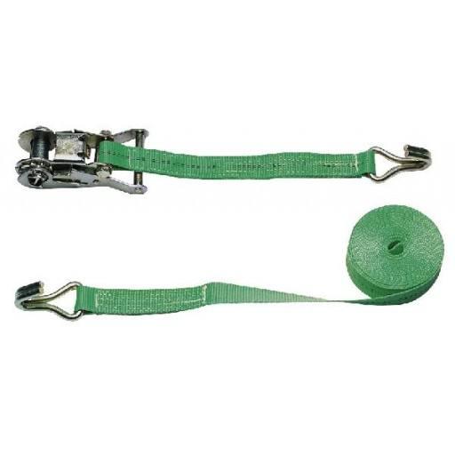 Lashing strap 2-piece, green, 6 m x 35 mm 2000 kg