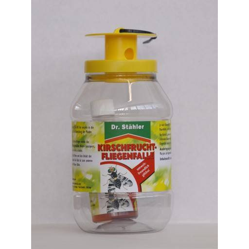 Cherry fruit fly trap by Dr. Staehler - fully including fruit fly bait