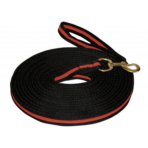 Lunging rope soft lunge, 8 m long assorted colors