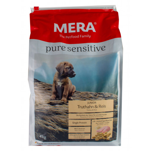 Meradog pure - Turkey and rice - junior - 4 kg
