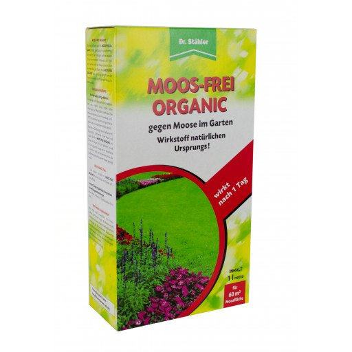 Moos-Frei Organic 1000 ml von Dr. Stähler gegen Moos im Rasen etc