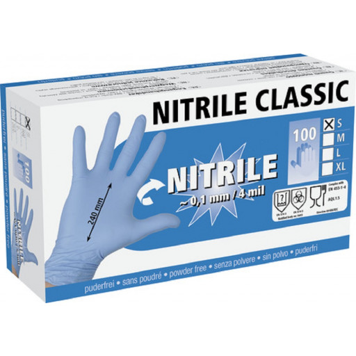Nitriles all purpose gloves, 100 gr. XL, 4 mil
