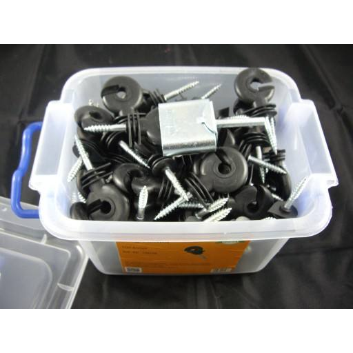 100 piece ring insulator Göbel with the help of screw-in