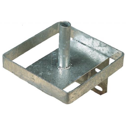 Salt leak stone holder metal