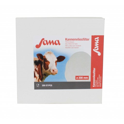 SANA Filterscheiben Kannenvliesfilter 200 mm Milchfilterscheiben