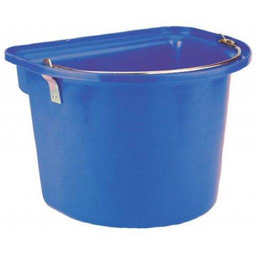 Bucket with metal handle, blue