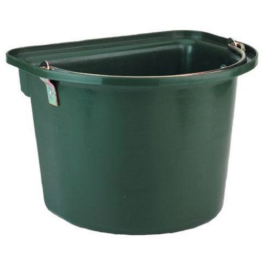 Bucket with metal handle, green
