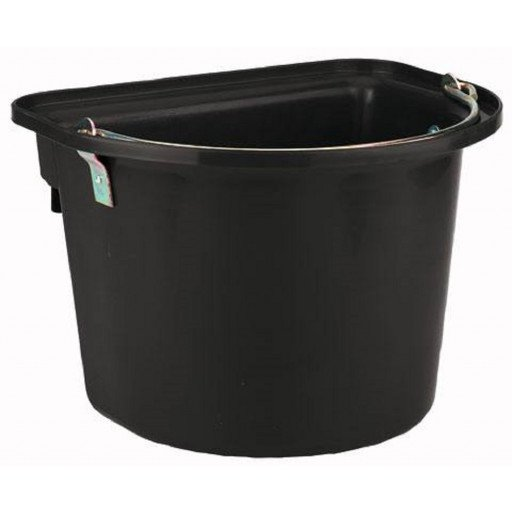 Bucket with metal handle, black