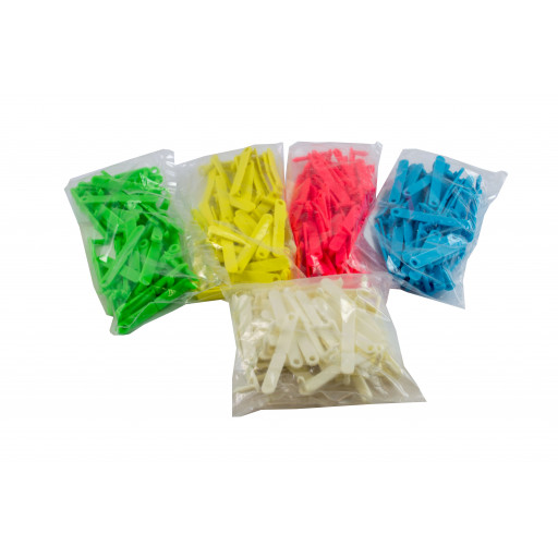 Ear tag Twintak, blank, red, blue, yellow, green, white - 50 PCs / Pack
