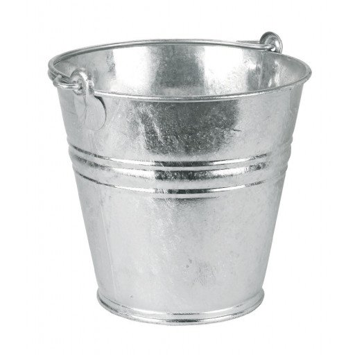 Water bucket galvanised 14 litres