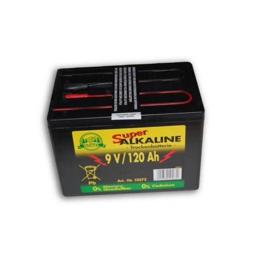 Fence battery 9 volt 120 AH, alkaline