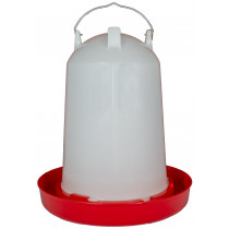 Geflügeltränke 12 l mit Bajonettverschluss rot