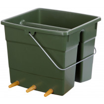Lamb bucket plastic, 6 suction set for boxes partitions