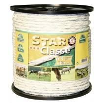 Cord wire 200 m, 8 mm, white/green, head 4 x 0.30 Niro + 4 x 0.30 Ku euro