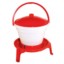 Poultry drinking bucket with feet and carrying handle - 12 litres