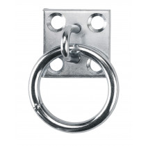 On binding ring on plate, zinc-plated