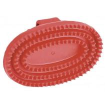 Rubber Striegel junior, oval, Red