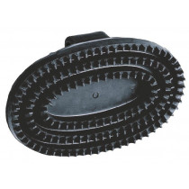 Rubber Striegel junior, oval, black