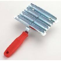 Metal Currycomb, bright zinc-plated
