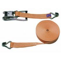 Lashing strap 2 piece set, 1500 x 5 cm orange, 4000 kg